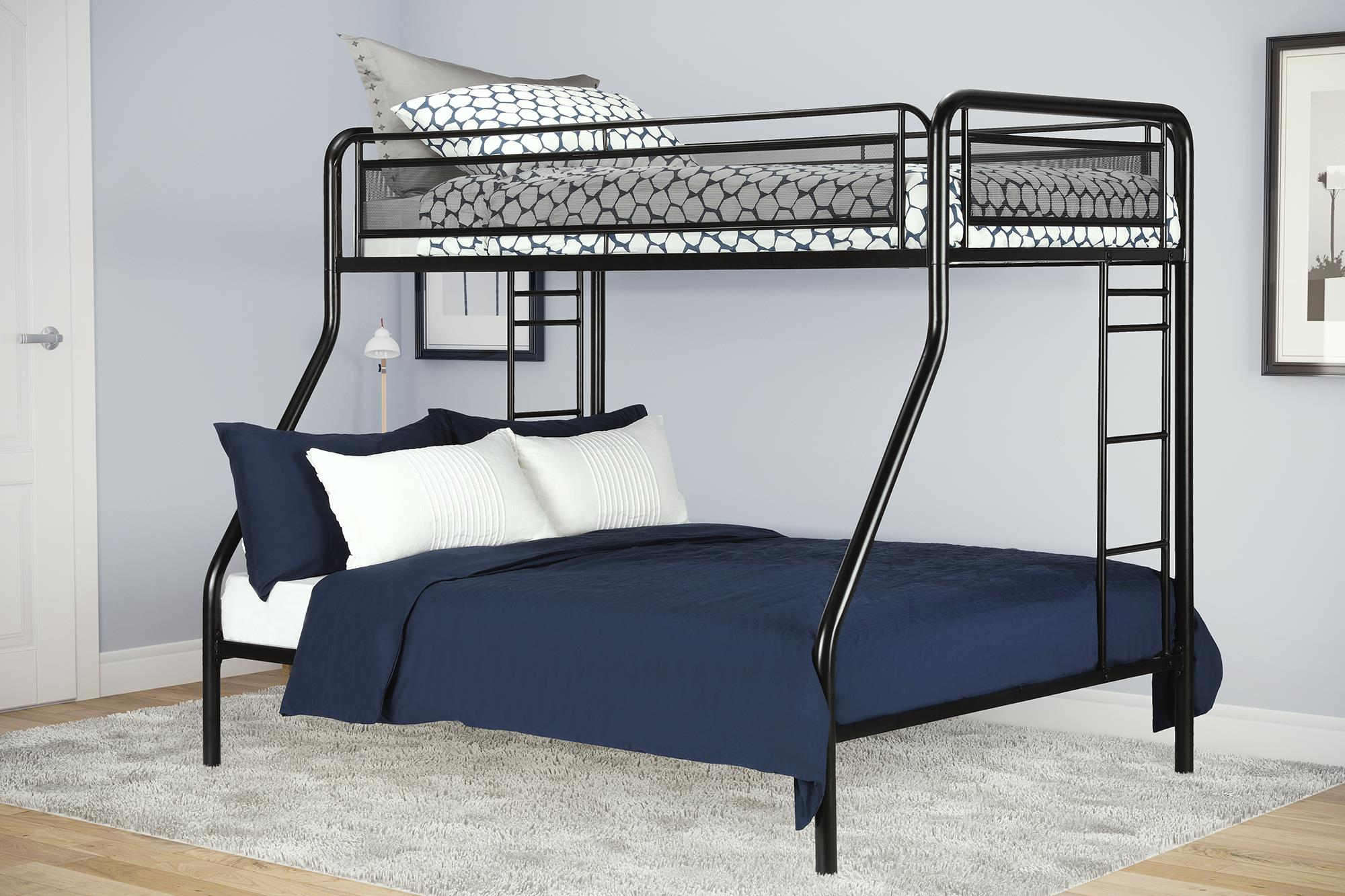 dhp rockstar twin over full metal bunk bed multiple colors rh walmart com