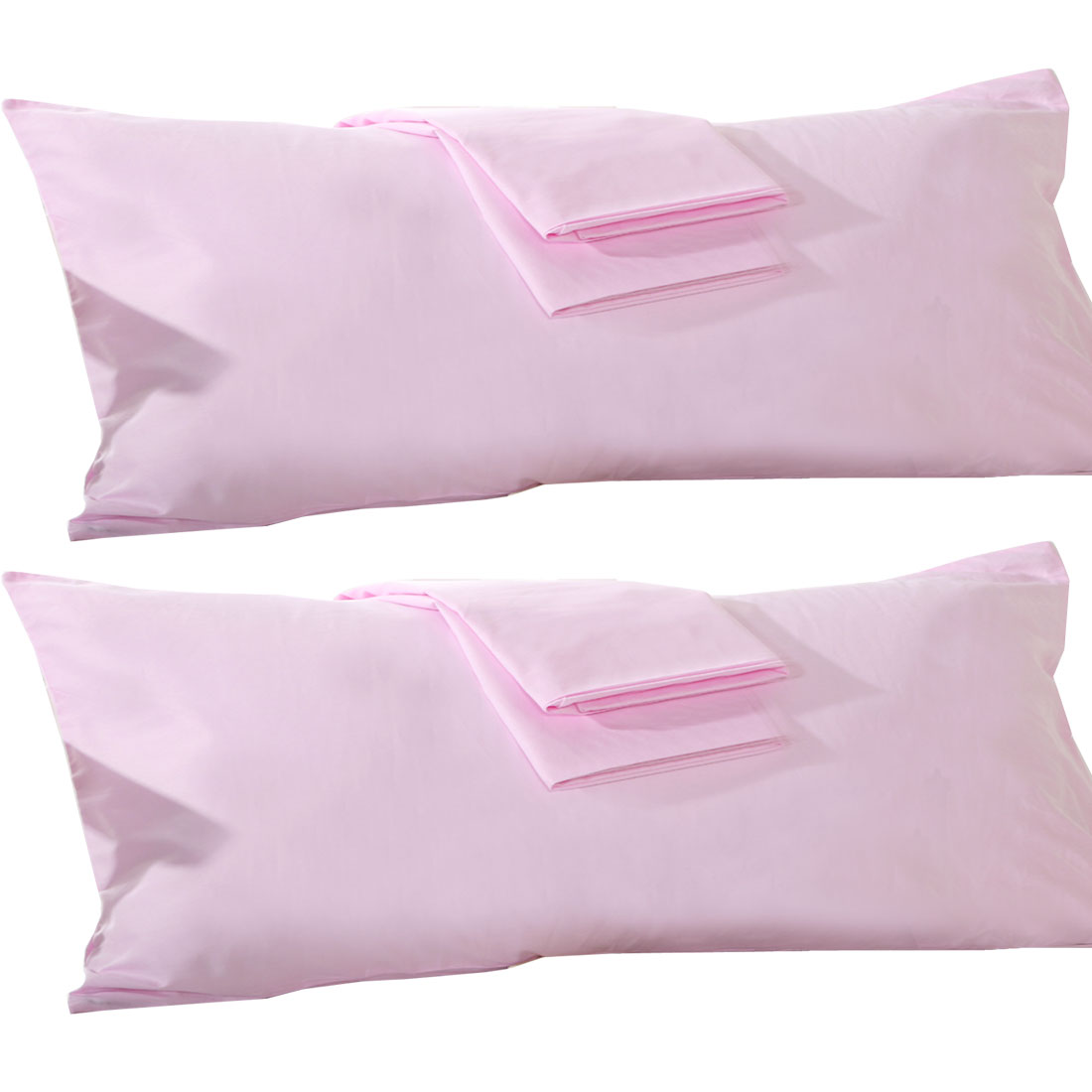 "Unique Bargains 2 Pack, 20"" x 55"" Body Pillowcase Pillow Case Cover Egyptian Cotton, Body Pillow Cover Sliver"