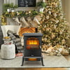 Zimtown 1000W/1500W Electric Fireplace Wood Stove Heater Portable Freestanding Heater