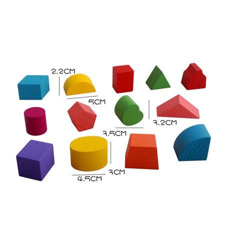 Homeholiday13 Holes Children Educational Box Wooden Building Blocks Toddler Geometric Pairing Toys Learning Tool - image 6 de 7