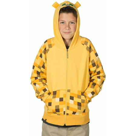 Minecraft Ocelot Premium Zip-up Hoodie Child Halloween Costume - Steve Minecraft Halloween Costume