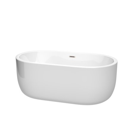 "Wyndham Collection Wcobt101360 Juliette 60"" Freestanding Acrylic Soaking Tub Wit"