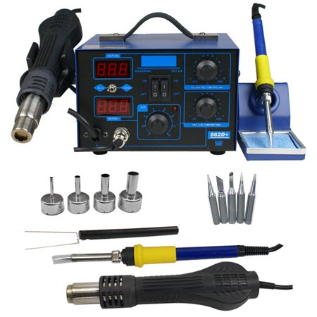 Zeny 2in1 862D + SMD Soldering Iron Rework Station Hot Air Gun