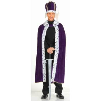 CO-KING ROBE & CROWN SET-PURPL - Costume King Crown
