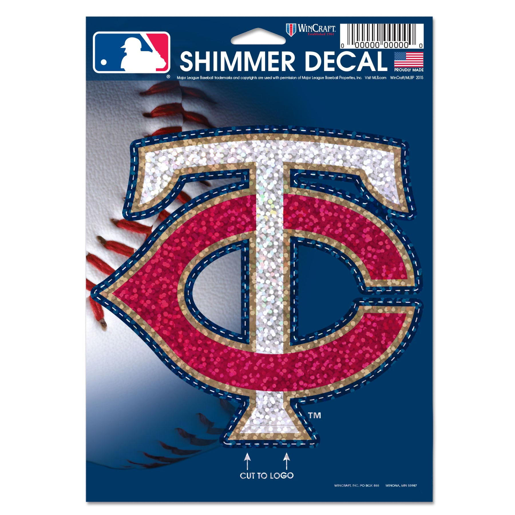 """Minnesota Twins WinCraft 5"""" x 7"""" Shimmer Decal - No Size"""