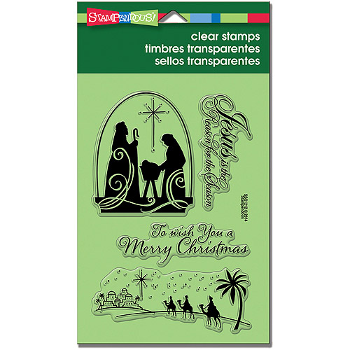"""Stampendous Perfectly Clear Christmas Stamps, 4"""" x 6"""" Sheet, Christmas Nativity"""