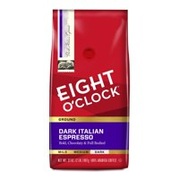 Eight O'Clock Dark Italian Espresso Roast Ground Coffee, 32 oz Bag