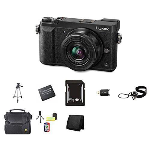 Panasonic Lumix DMC-GX85 Digital Camera w/12-32mm Lens (Black), 64GB Memory, Cap Keeper, Memory Card Wallet, Memory Card Reader, Camera Accessory Kit, DMW-BLE9 Battery (DMC-GX85KK) and More.