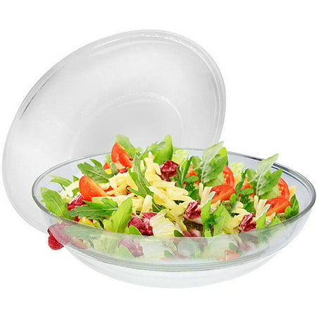 Gourmet Home Products Round Salad Server Over Ice with (Divided Server Lid)