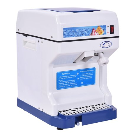 Goplus Electric Ice Shaver Machine Tabletop Shaved Ice Crusher Ice Snow Cone