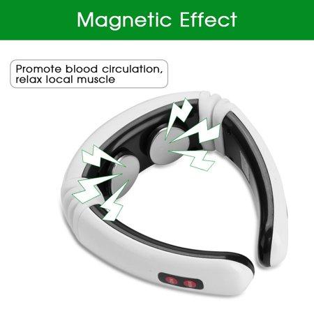 Garosa Electric Neck Massager, Electric Pulse Magnetic Neck Massager Cervical Vertebra Treatment Shoulder Relax, Neck Shoulder Massager - image 8 of 9