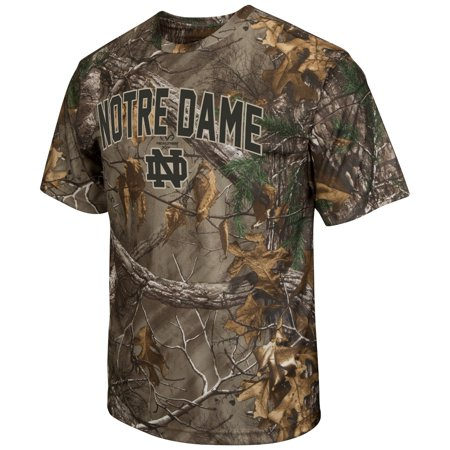Notre Dame Fighting Irish NCAA Realtree Xtra Men's Camo Performance S/S T-Shirt - Halloween Tree Notre Dame