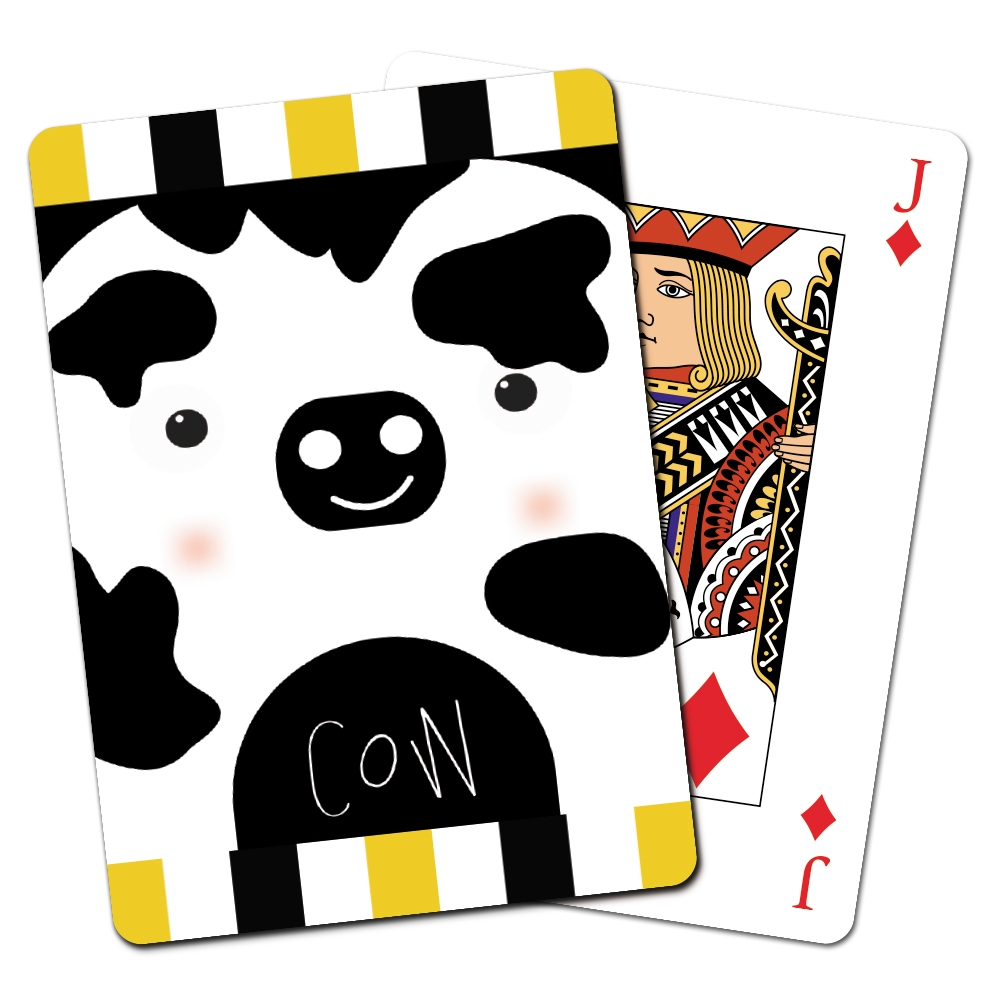 Tree-Free Greetings Cow Animoji Playing Cards -CD15221
