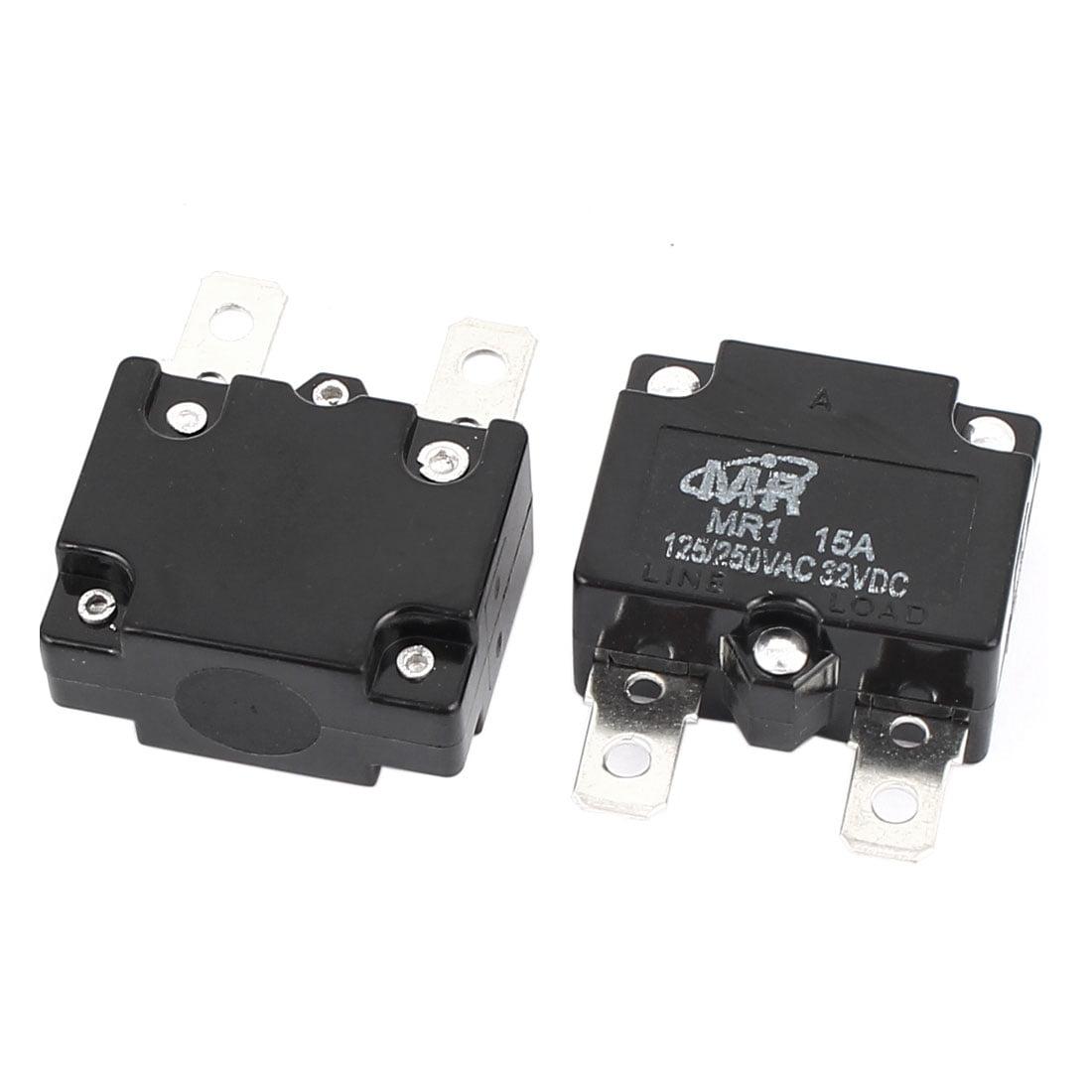 Unique Bargains  125V/250V 15A NC Automatic Reset Overload Protector Circuit Breaker 2Pcs