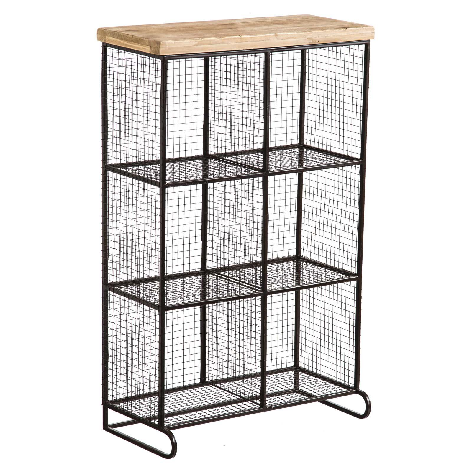 Evergreen Enterprises Wire Mesh 6-Bin Cubical Storage