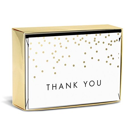 Graphique Falling Dots Thank You Note Cards - Falling Dot
