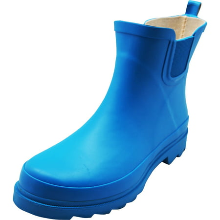 Norty - Ladies Ankle Rain Boots For Women - Waterproof Rainboot For Winter Spring and Garden - Warm and Comfortable Sturdy Sole Choose Glossy or Matte Finish Womens Rain Boots (Shoes To Run In Snow)