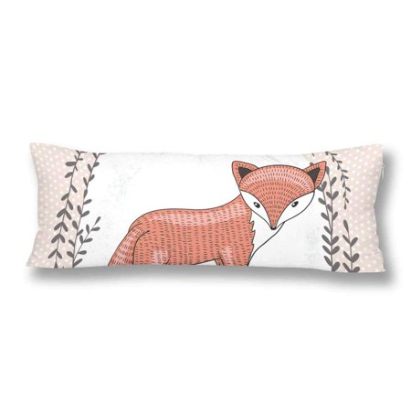 Abphoto Cute Little Fox Body Pillow Covers Pillowcase