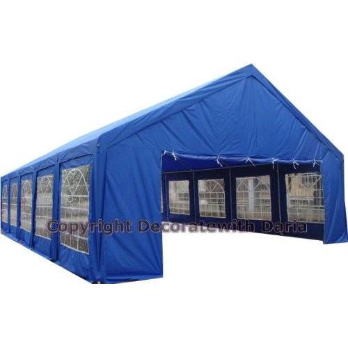Decorate With Daria 20' x 40' - Party Canopy, Carport - Blue