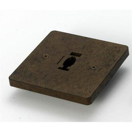 Line Voltage Monopoint Plate Track Accessory, Dark Bronze