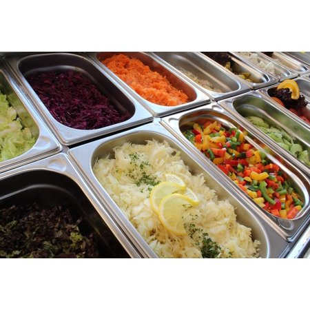 Salad Bar (Laminated Poster Salad Bar Salad Buffet Buffet Starter Salad Poster Print 11 x 17 )
