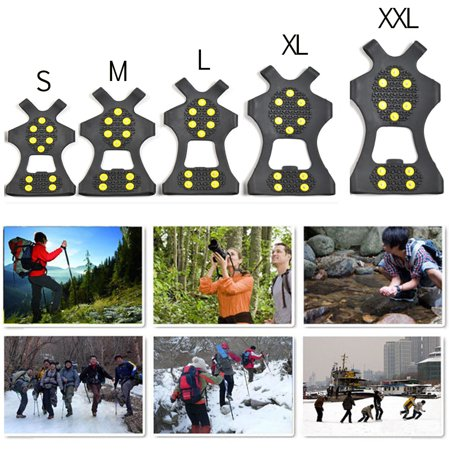 Gripper Cleat - 1 Pair Anti Slip Shoe Boot Grips Ice Cleats Spike Snow Gripper Non Slip Crampons