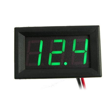 0.56 Inch DC 0V-30.0V 3-wire Voltage Meter Head LED Digital Voltmeter with Reverse Polarity Protection Green DC3.00-30.0V