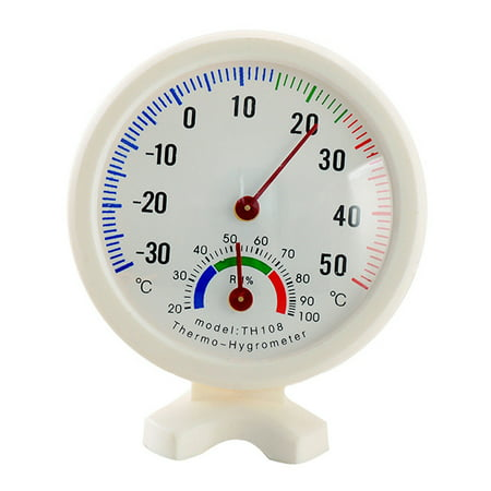 Round Indoor Outdoor Hygrometer Humidity Thermometer Temperature Meter Gauge ()