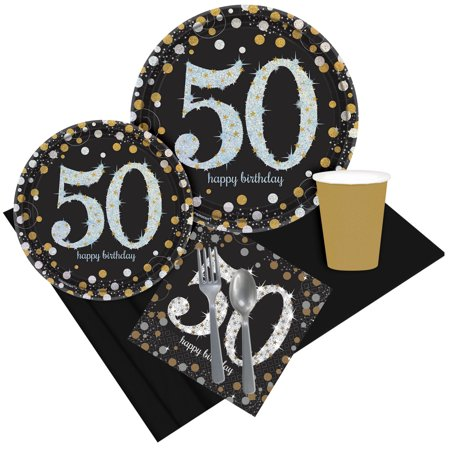 Sparkling Celebration 50th Birthday Party Pack for 8