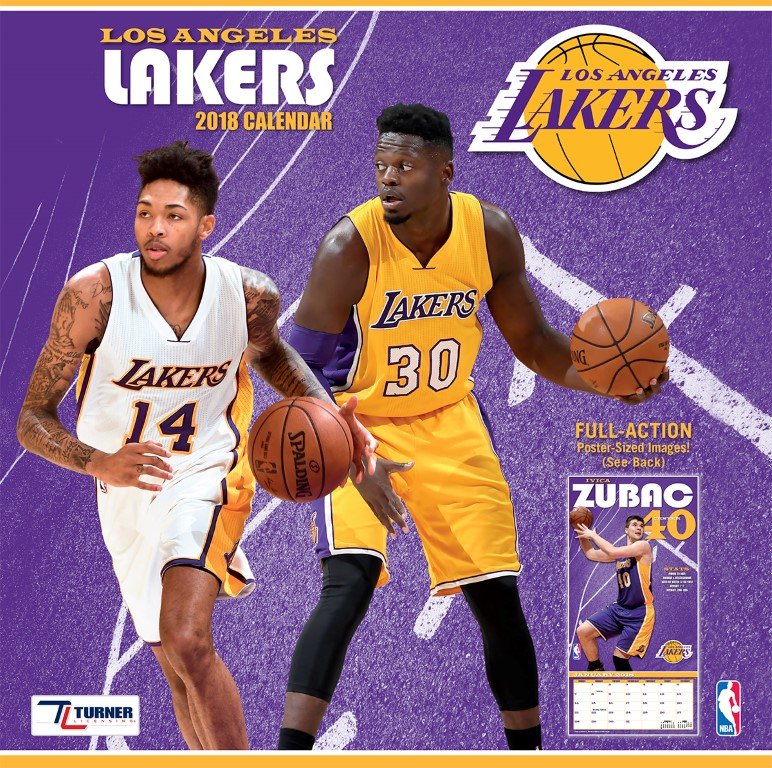 TURNER SPORTS LOS ANGELES LAKERS 2018 12X12 TEAM WALL CALENDAR