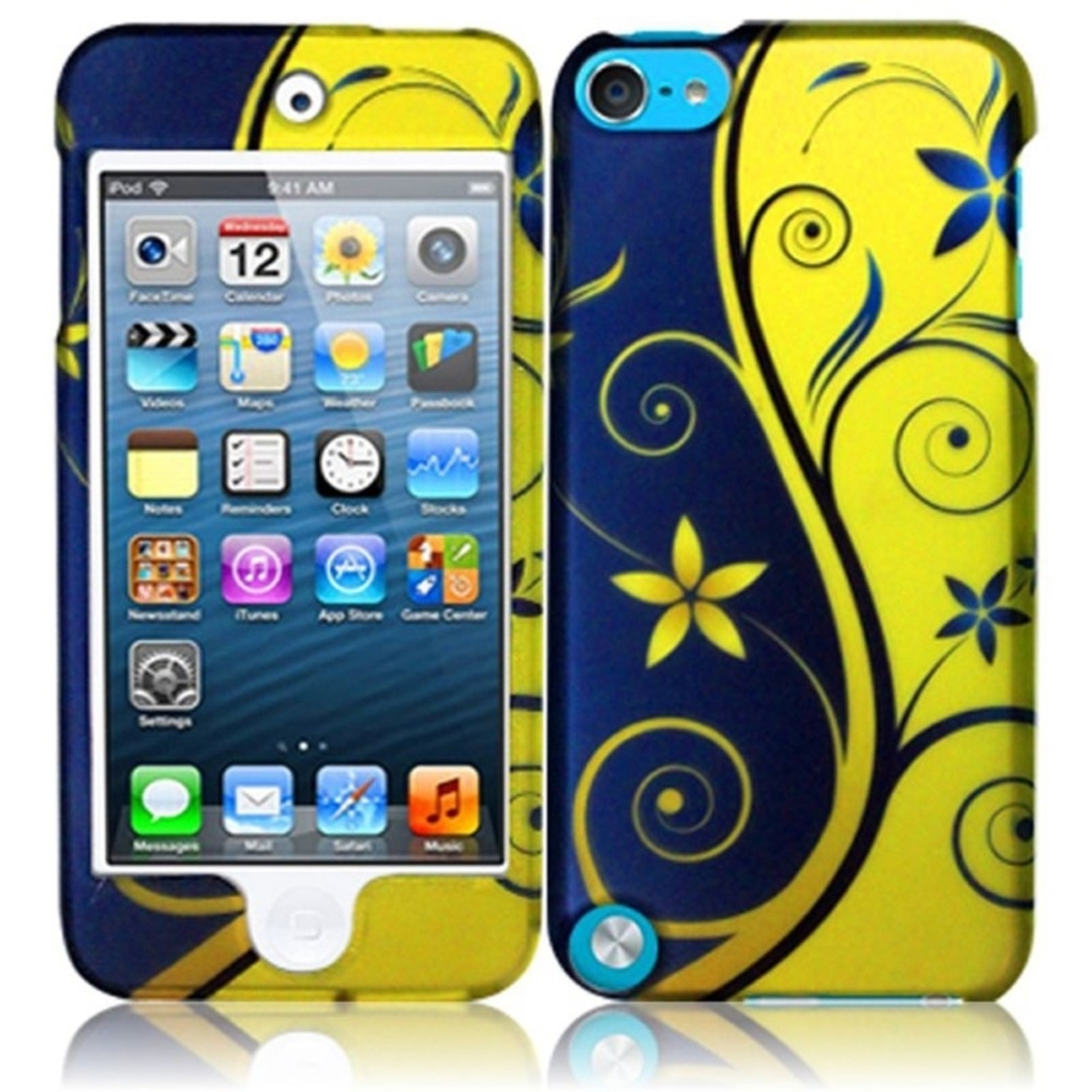 Insten For Apple Ipod Touch 6 6G 6th / 5 5G 5th Rubberized Hard Design Case Royal Swirl