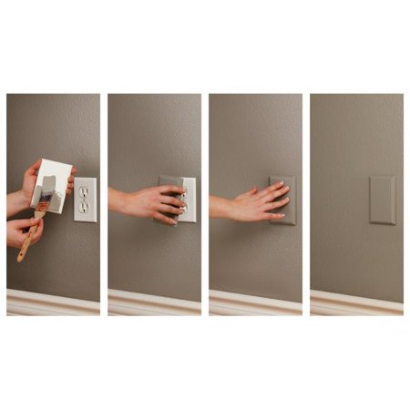 The COVERPLUG 2-Pack Paintable Electrical Outlet Cover - image 2 of 2