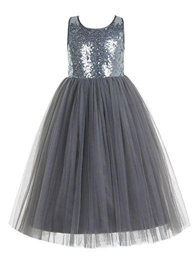 EkidsBridal Crossed Straps A-Line Flower Girl Dresses Junior Bridesmaid Dress Formal Dresses 177