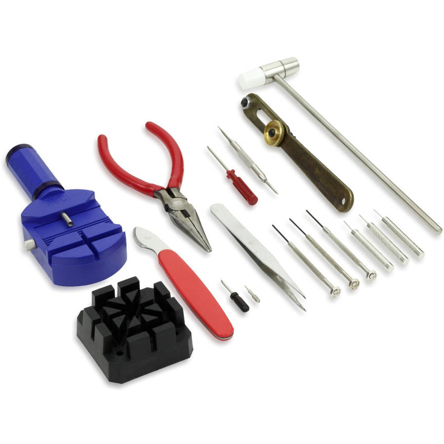 16-Piece Deluxe Watch Opener Repair Tool Kit Set