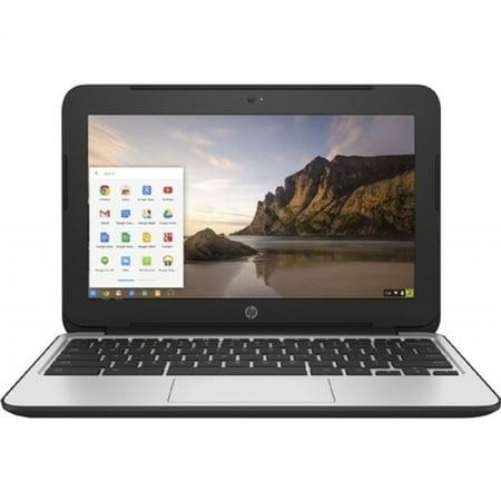 "HP Chromebook 11 G4 Intel Celeron N2840 X2 2.16GHz 4GB 16GB SSD 11.6"" SKIN, Gray (Refurbished)"