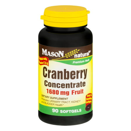 Mason Natural Cranberry Concentrate 1680mg Fruit - 90 CT