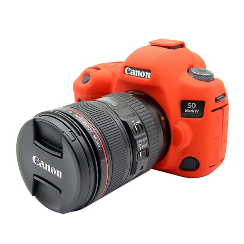 Color : Black Soft Silicone Protective Case for Canon EOS 5D Mark IV Durable