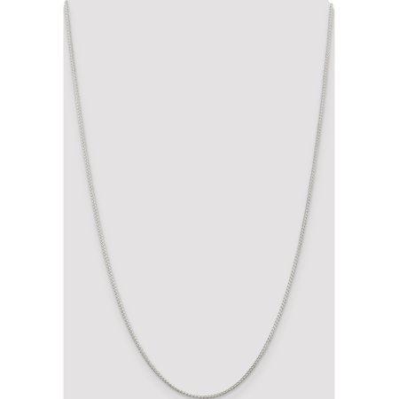 925 Sterling Silver 1.25mm Round Spiga Necklace - image 2 of 5