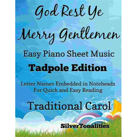 God Rest Ye Merry Gentlemen Easy Piano Sheet Music Tadpole Edition - eBook - This Is Halloween Sheet Music Piano Easy