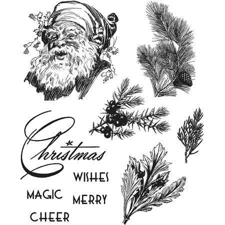 Stamper's Anonymous Cling Stamps, Christmas Classic, This item is used for Scrapbook, Card Making, Paper Crafting & Mixed Media. By Tim Holtz ()