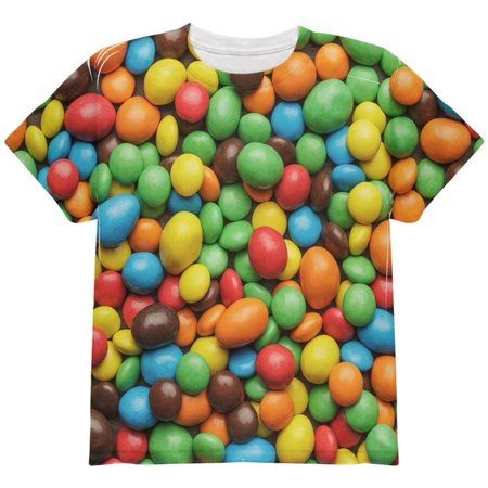 Old Halloween Candy (Halloween Candy Coated Chocolate All Over Youth T)