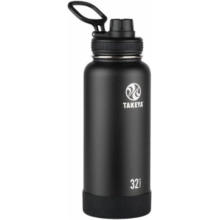 Takeya 32oz Actives Insulated Stainless Steel Water Bottle with Spout Lid - Black
