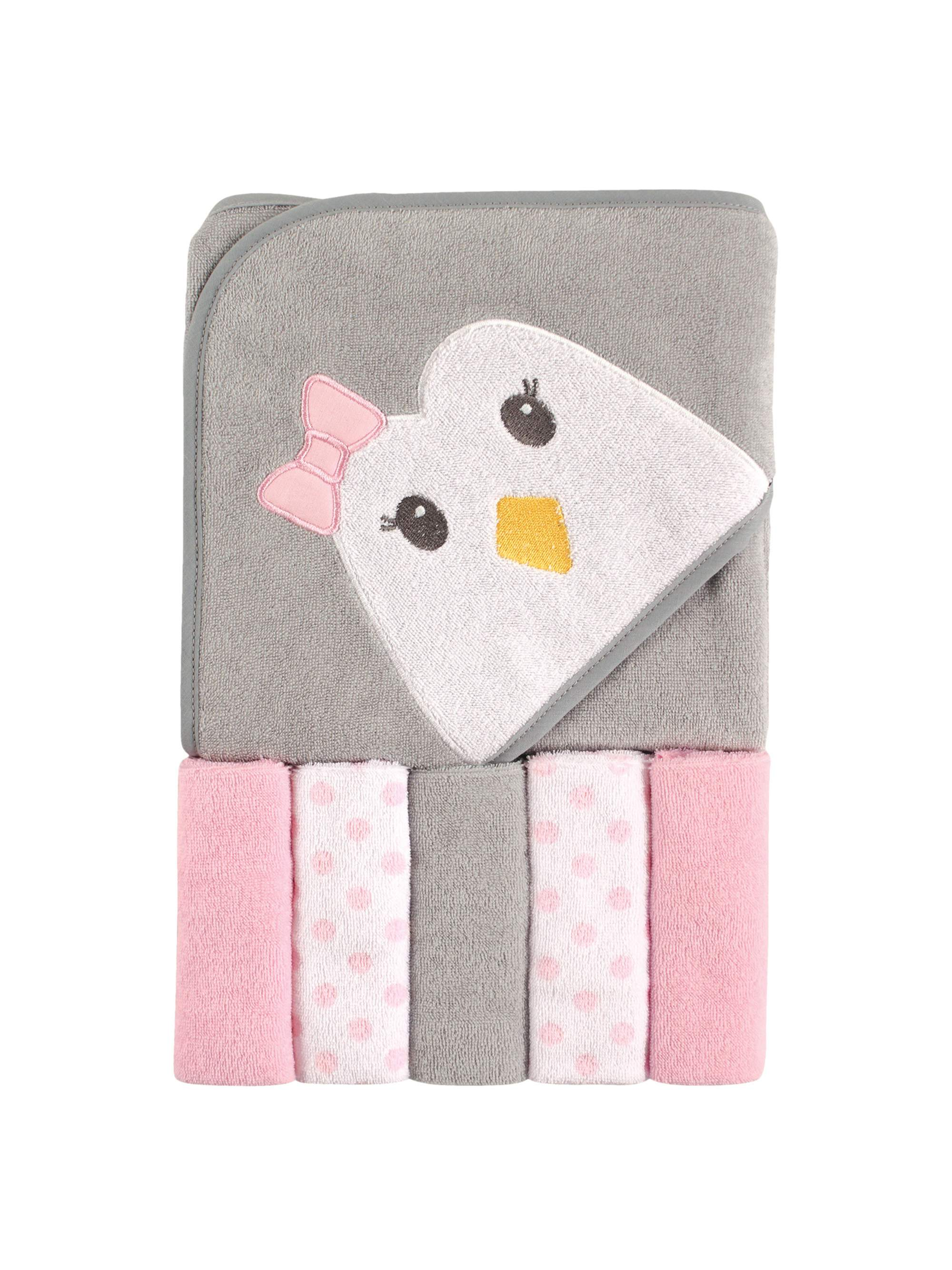 One Size Hudson Baby 6 Piece Woven Terry Washcloths Girl Owl