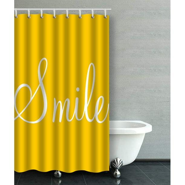 Artjia Smile Sunshine Yellow Bathroom Shower Curtain 36x72 Inches Walmart Com Walmart Com