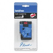 Brother TC5001 TC Tape Cartridge for P-Touch Labelers  1/2w  Black on Red