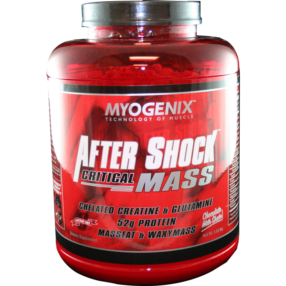 Image of Myogenix After Shock Critical Mass Protein Powder, Chocolate Milkshake, 5.62 Lb