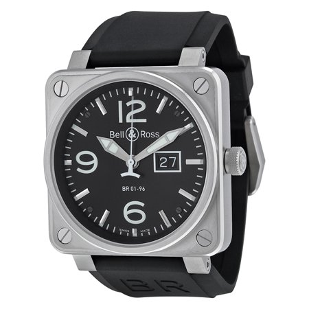 Ross Automatic Watch Bell - Pre-owned Bell and Ross Aviation Automatic Black Dial Men's Watch BR0196-BL-ST