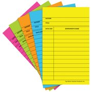 LIBRARY CARDS BRITE ASSORTED 50/BOX