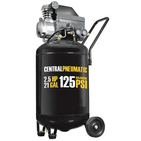 21 gal. 2-1/2 HP 125 PSI Cast Iron Vertical Air (Central Pneumatic 21 Gallon Air Compressor Pressure Switch)