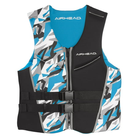 Airhead Mens XXL Camo Cool Neolite Kwik-Dry Blue Life Vest Jacket 15002-12-B-BL thumbnail